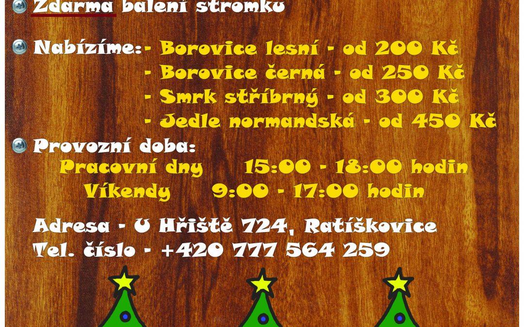 Prodej vánočních stromků 1.12. 2017