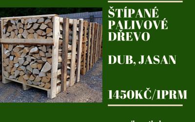 Palivové dřevo – Dub, Jasan – 1450Kč/1prm